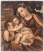 Italian oil on panel, Virgin & Child after Lanciano