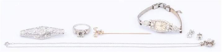 Group Vintage Gold Diamond Jewelry