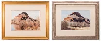 2 Robert Highsmith Plateau Watercolors