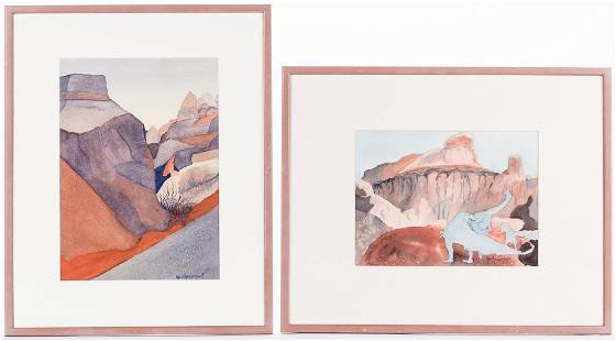 Marilyn Campbell 2 Western Watercolors