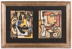 2 Martin Obzina Works, framed together