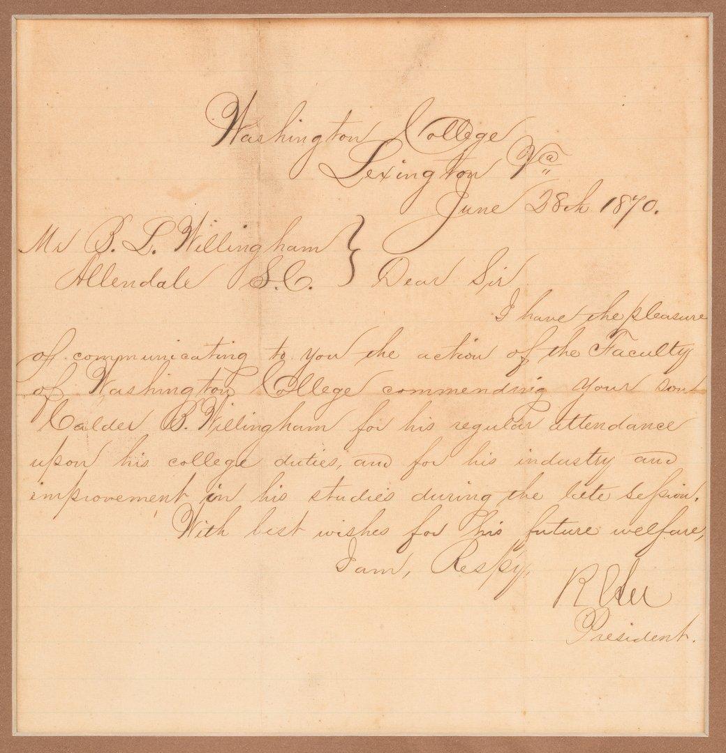 2 Robert E. Lee signed documents as Pres. of Washington - 2