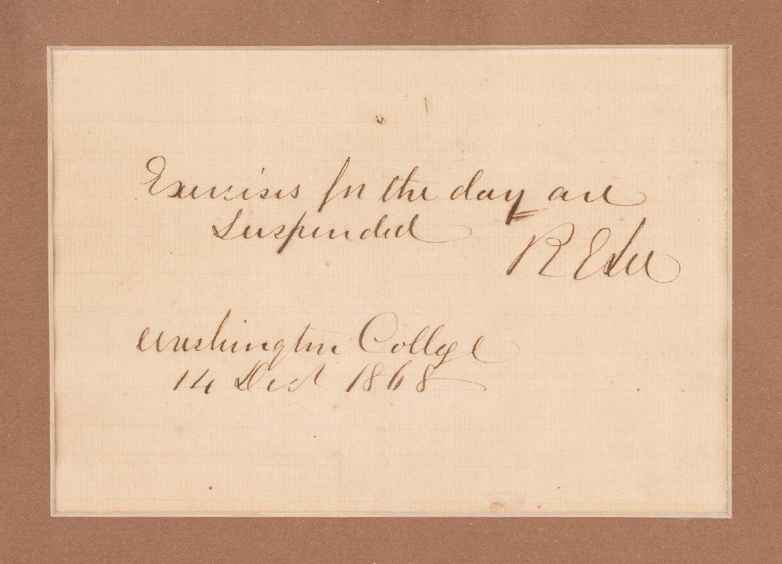 2 Robert E. Lee signed documents as Pres. of Washington - 3