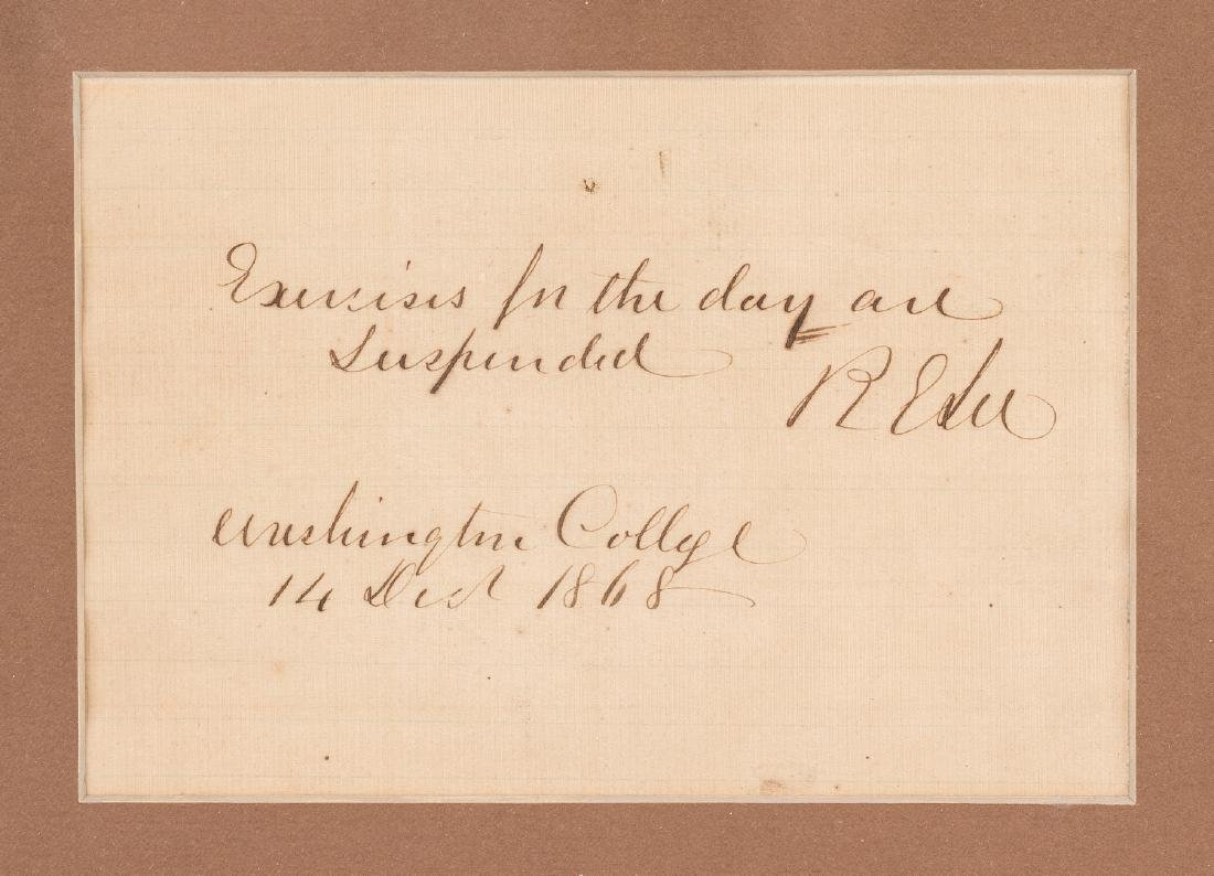 2 Robert E. Lee signed documents as Pres. of Washington - 3