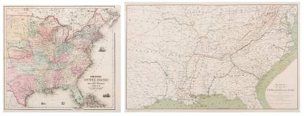 2 Colton Civil War Maps, Military Stations & Forts, 3