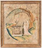Silk embroidered memorial, Southern