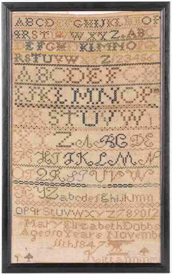 Kittanning, PA 1847 Alphabet Sampler