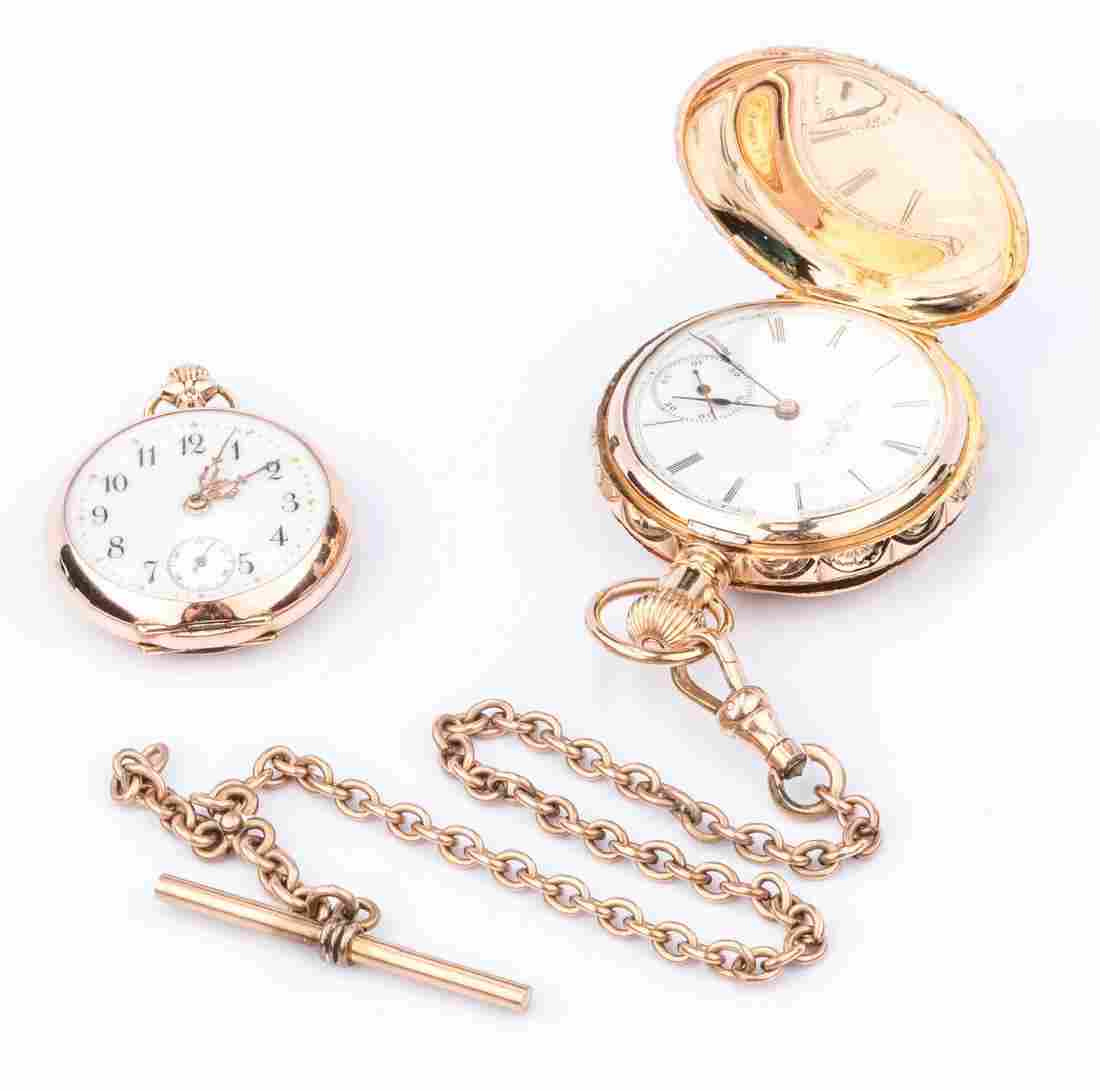 2 14K Lady's Pocketwatches