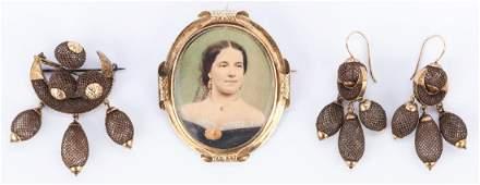 4 Pcs. Victorian Hair Jewelry