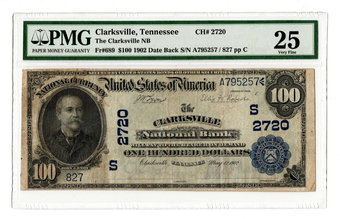 1902 $100 Clarksville National Bank, TN National B