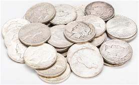 32 U.S. Peace Silver Dollars, inc. 1921