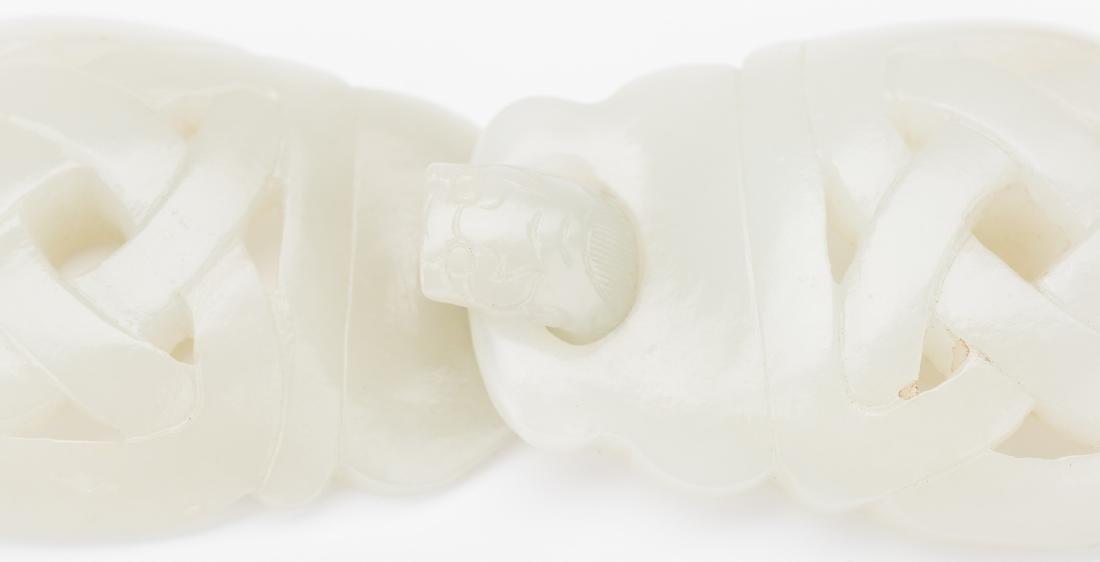 2 Chinese Celadon Jade Buckles - 19