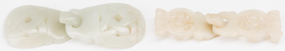 2 Chinese Celadon Jade Buckles - 5