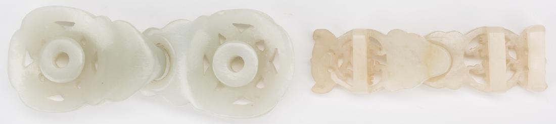 2 Chinese Celadon Jade Buckles - 6