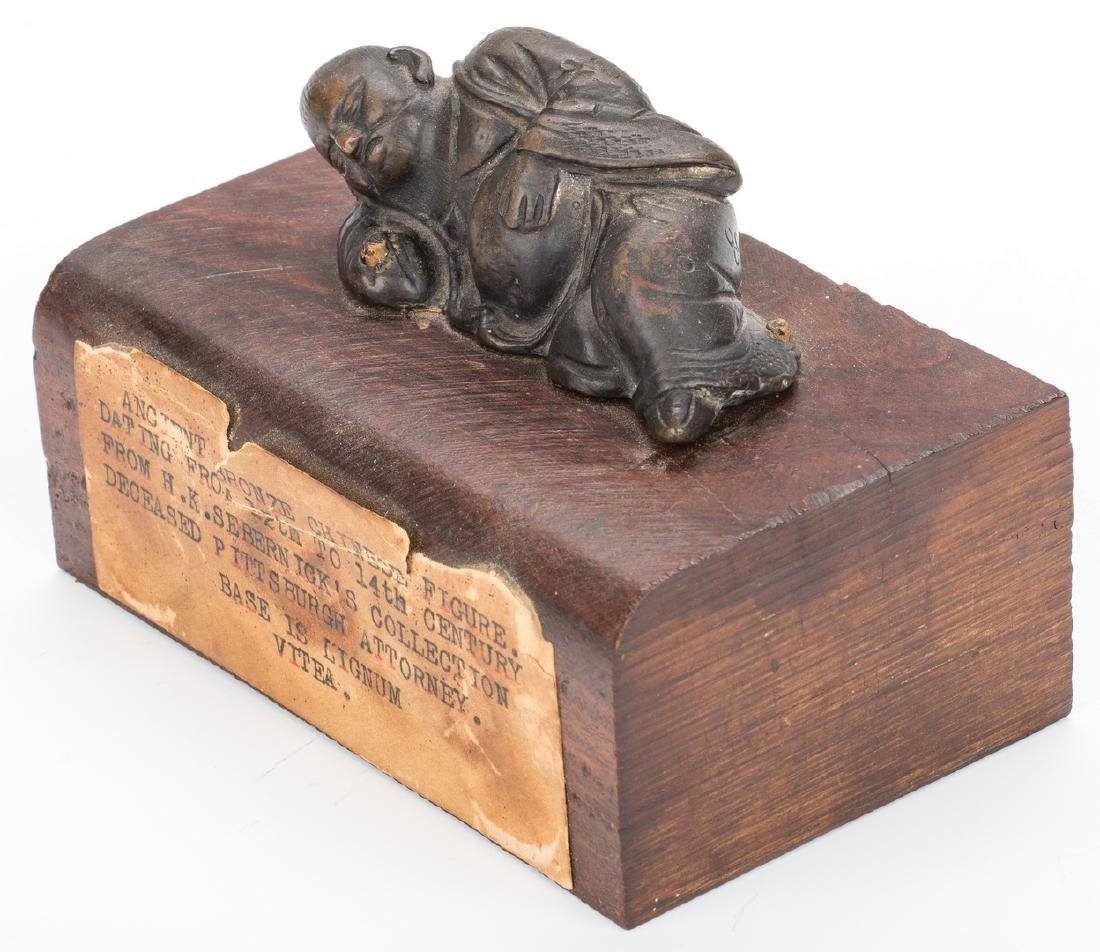 Ancient Chinese Bronze Figure; Tibetan Silver - 10