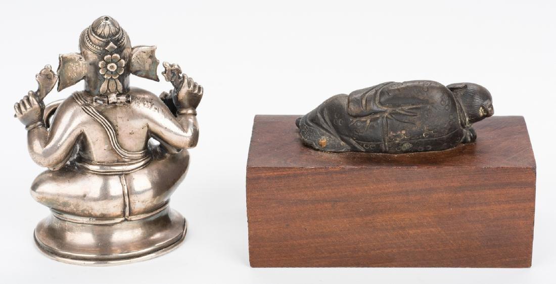 Ancient Chinese Bronze Figure; Tibetan Silver - 3