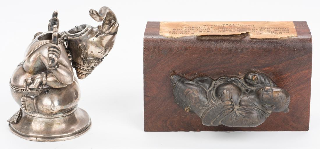 Ancient Chinese Bronze Figure; Tibetan Silver - 4