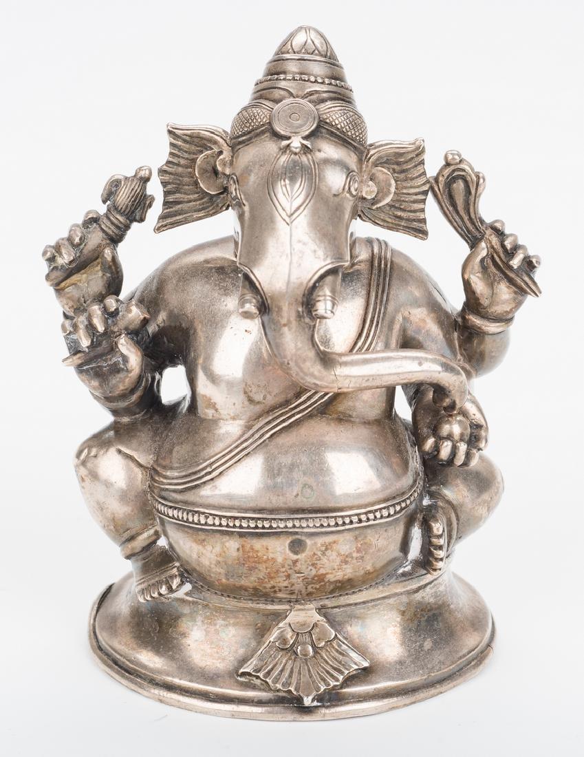 Ancient Chinese Bronze Figure; Tibetan Silver - 5