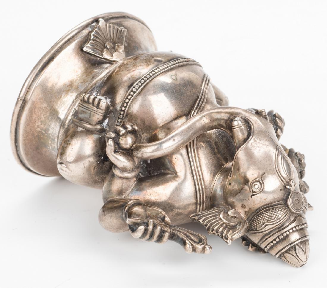 Ancient Chinese Bronze Figure; Tibetan Silver - 7