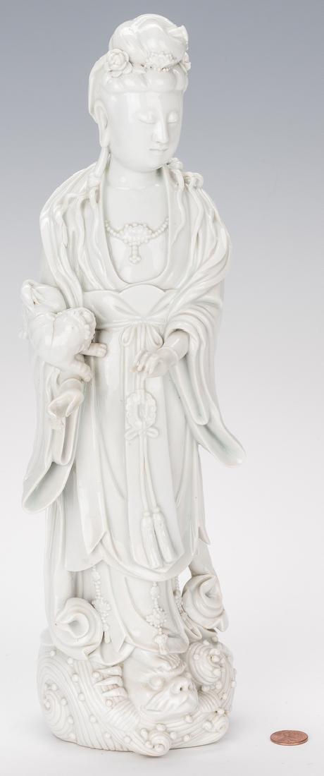 Blanc de Chine Porcelain Quan Yin Figure - 2