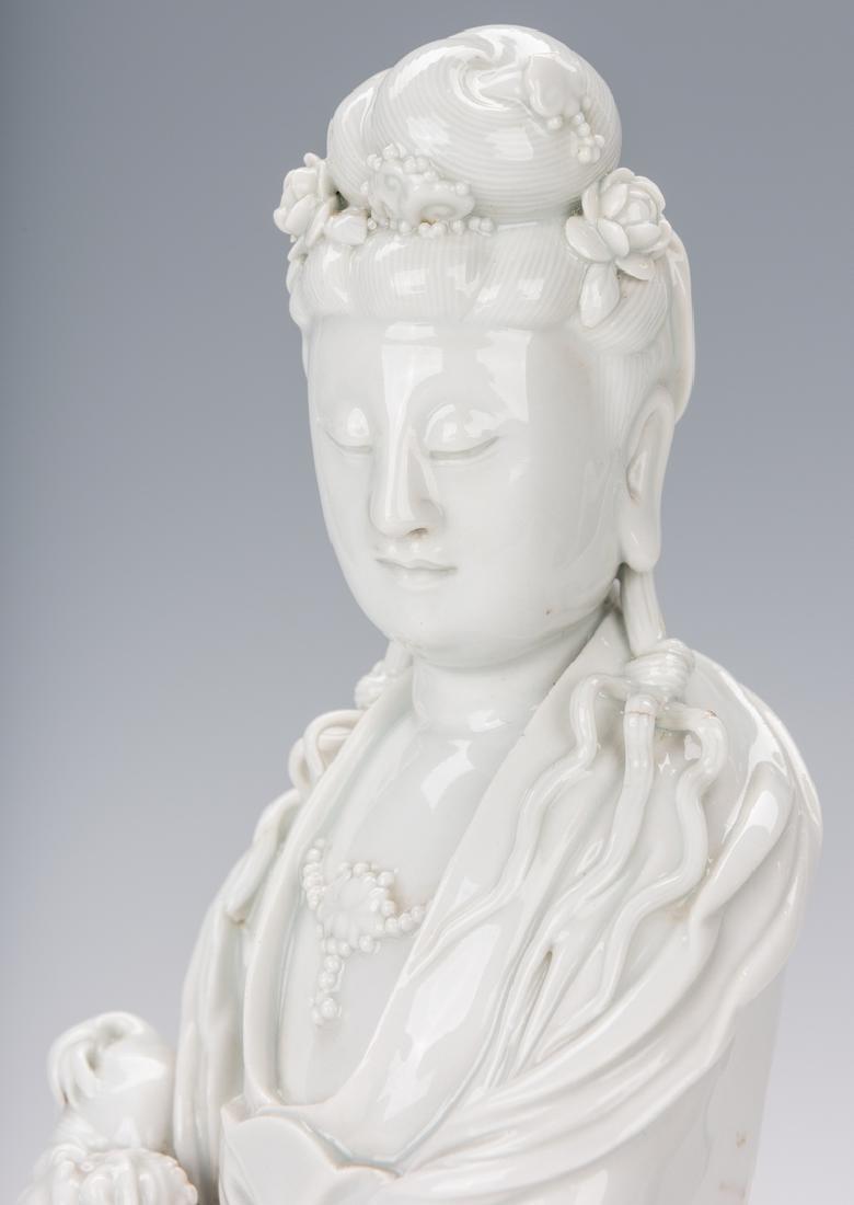 Blanc de Chine Porcelain Quan Yin Figure - 4