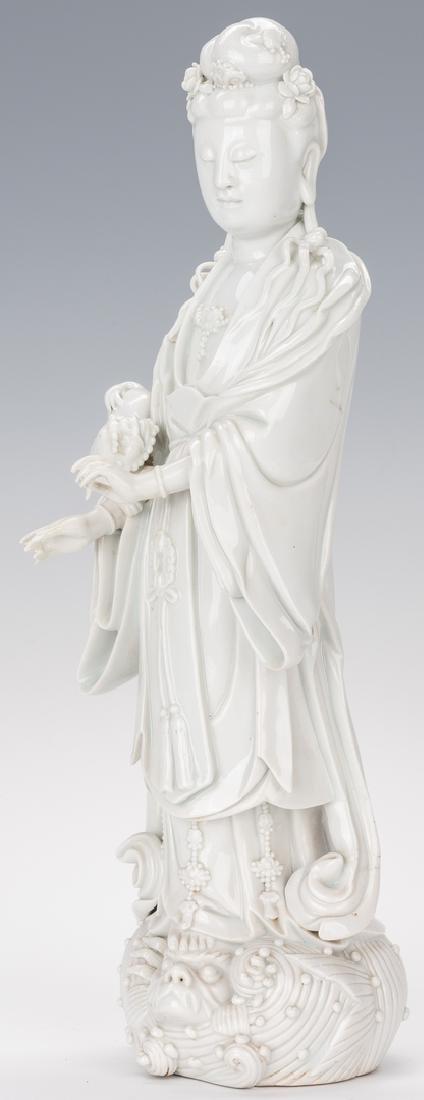 Blanc de Chine Porcelain Quan Yin Figure - 7