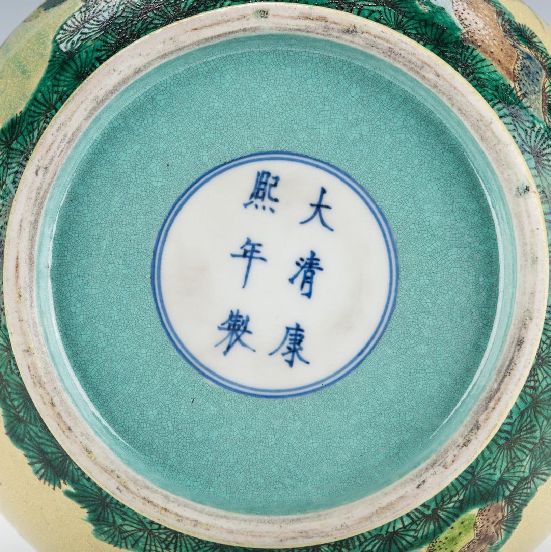 Chinese Polychrome Enameled Bottle Vase - 10