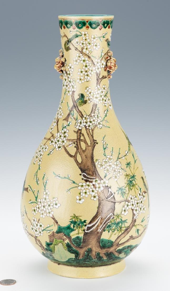 Chinese Polychrome Enameled Bottle Vase