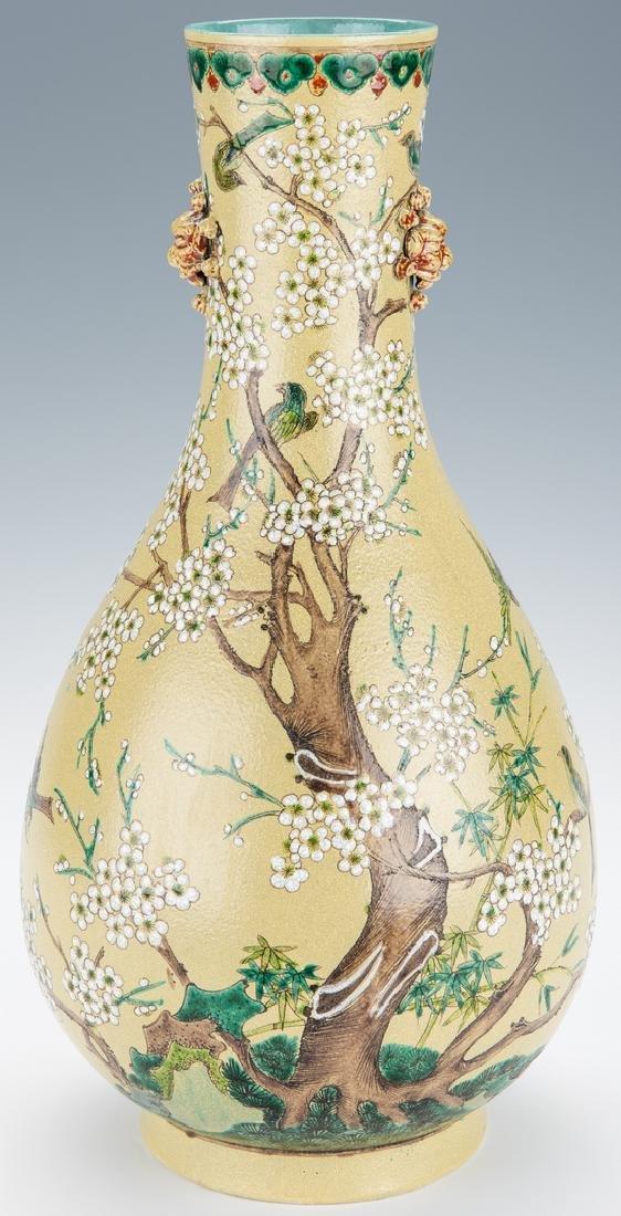 Chinese Polychrome Enameled Bottle Vase - 2