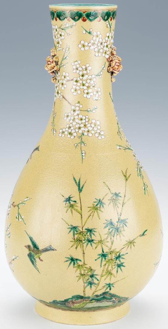 Chinese Polychrome Enameled Bottle Vase - 3