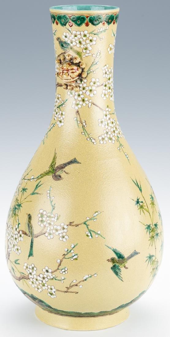 Chinese Polychrome Enameled Bottle Vase - 5