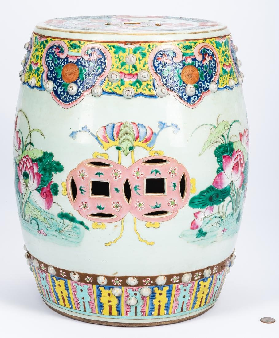 Chinese Qing Famille Rose Porcelain Garden Seat