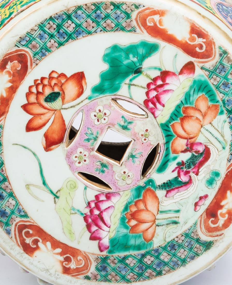 Chinese Qing Famille Rose Porcelain Garden Seat - 7