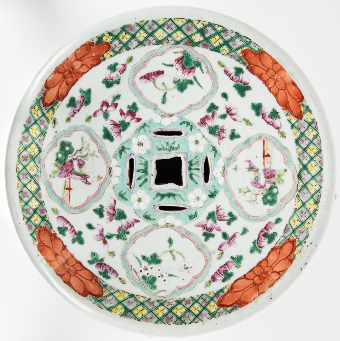 Chinese Famille Rose Porcelain Garden Seat - 10