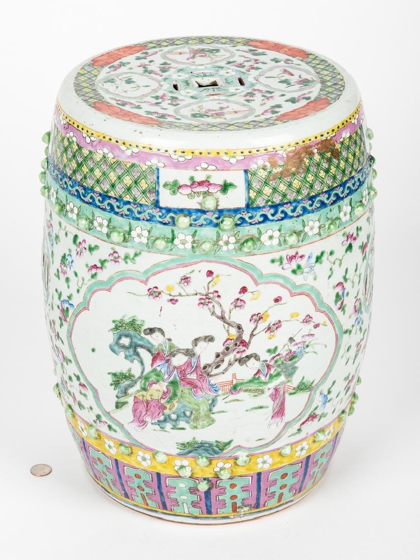 Chinese Famille Rose Porcelain Garden Seat