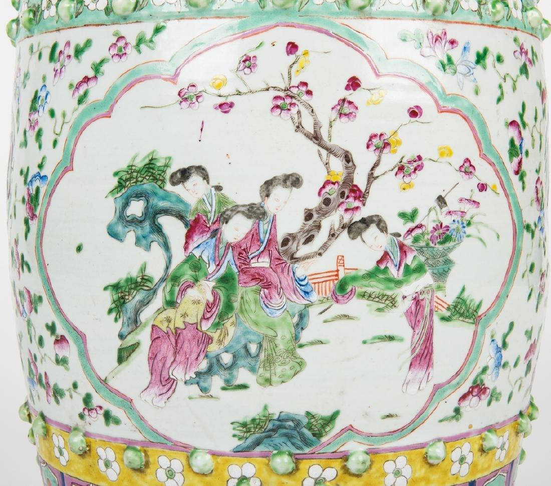 Chinese Famille Rose Porcelain Garden Seat - 6