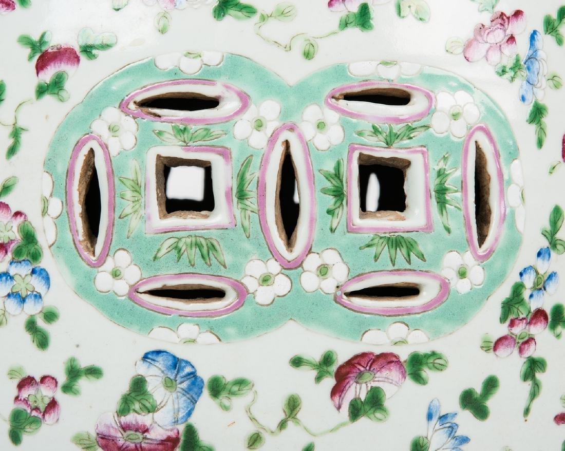 Chinese Famille Rose Porcelain Garden Seat - 7
