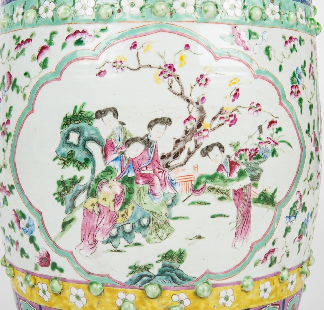 Chinese Famille Rose Porcelain Garden Seat - 9