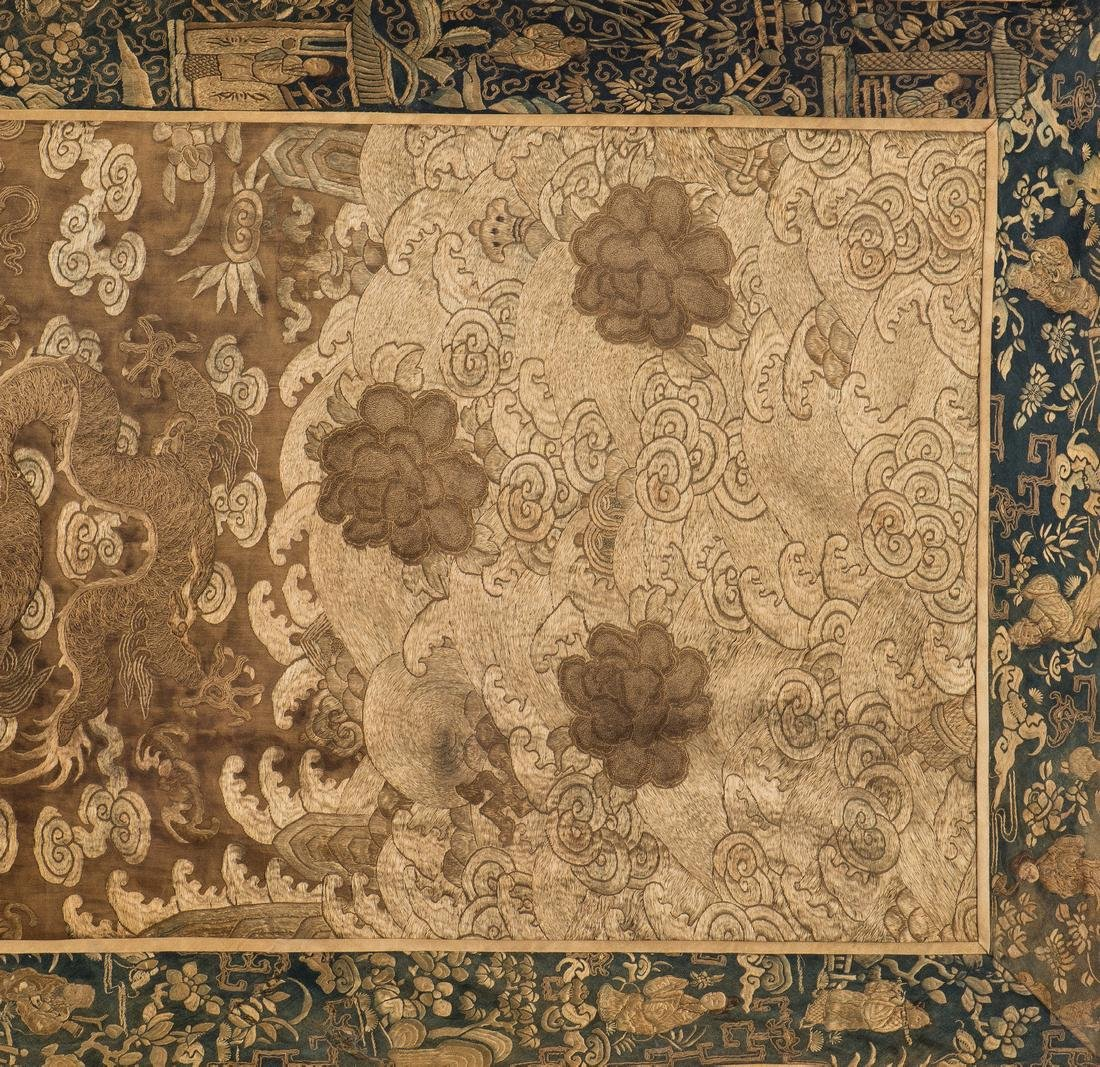 Chinese Qing Silk Embroidery - 5