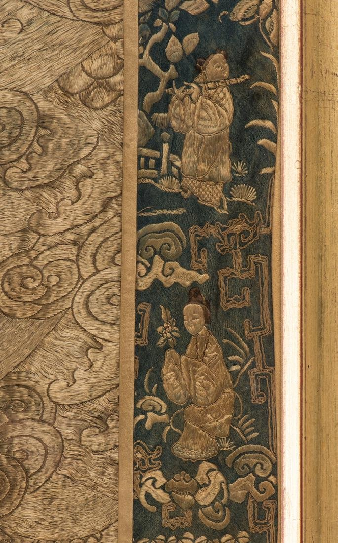 Chinese Qing Silk Embroidery - 6