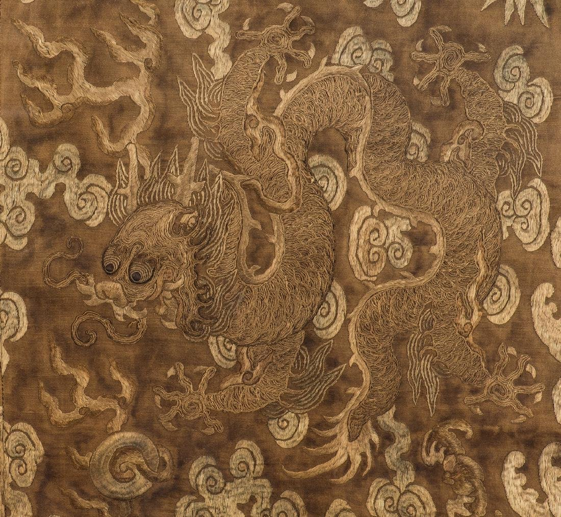 Chinese Qing Silk Embroidery - 7