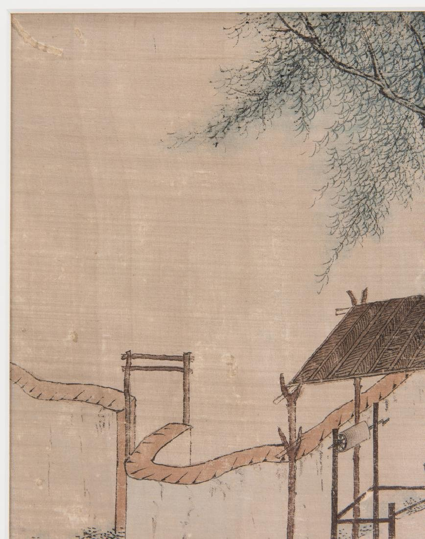 5 Qing Painted Landscapes on silk - 8