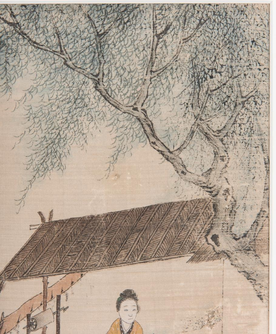 5 Qing Painted Landscapes on silk - 9