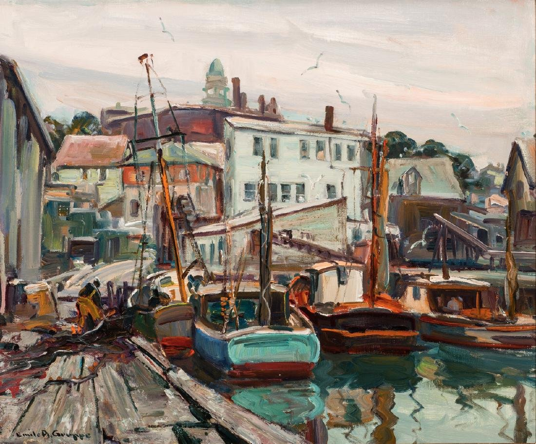 Emile Albert Gruppe O/C, Gloucester Harbor