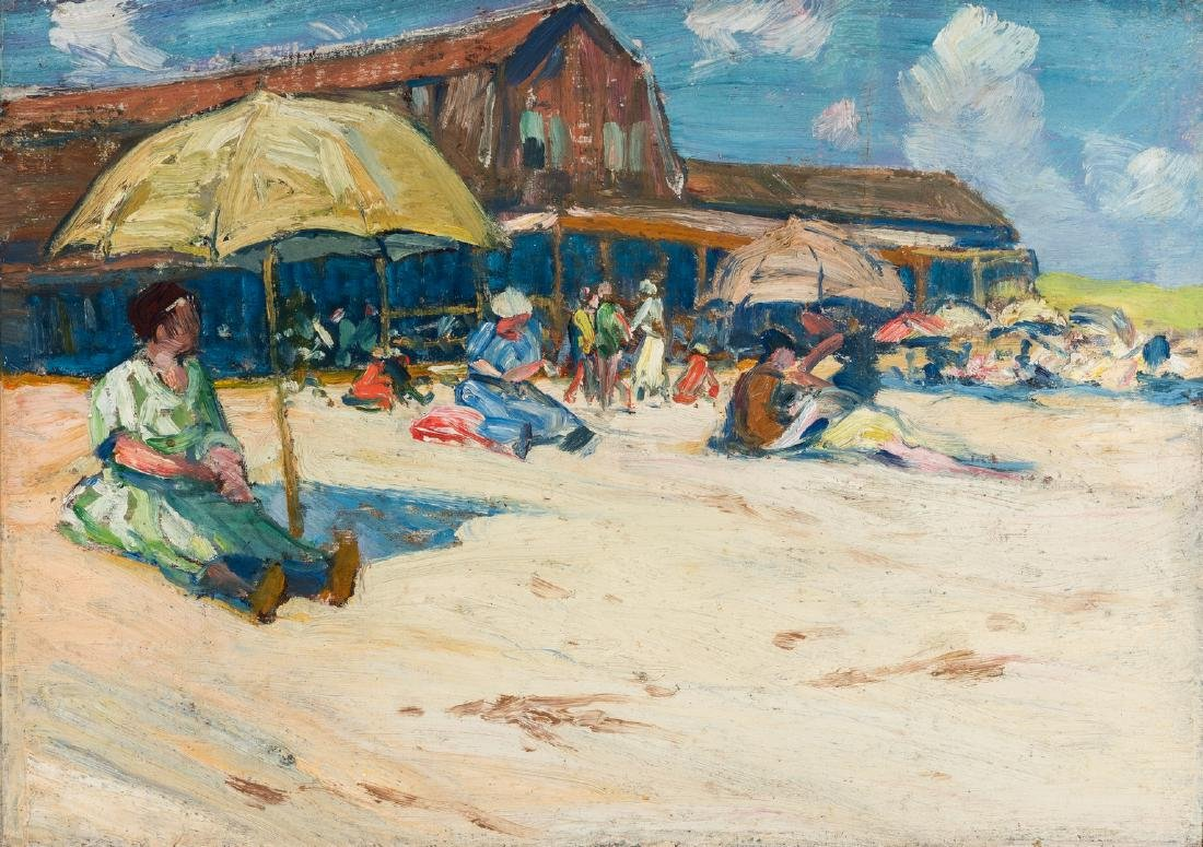 Charles Woodbury O/C, Ogunquit Bath House