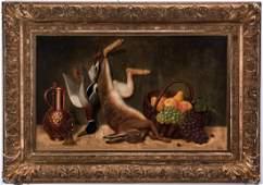 Friedrich Emil Klein, O/C, Still Life