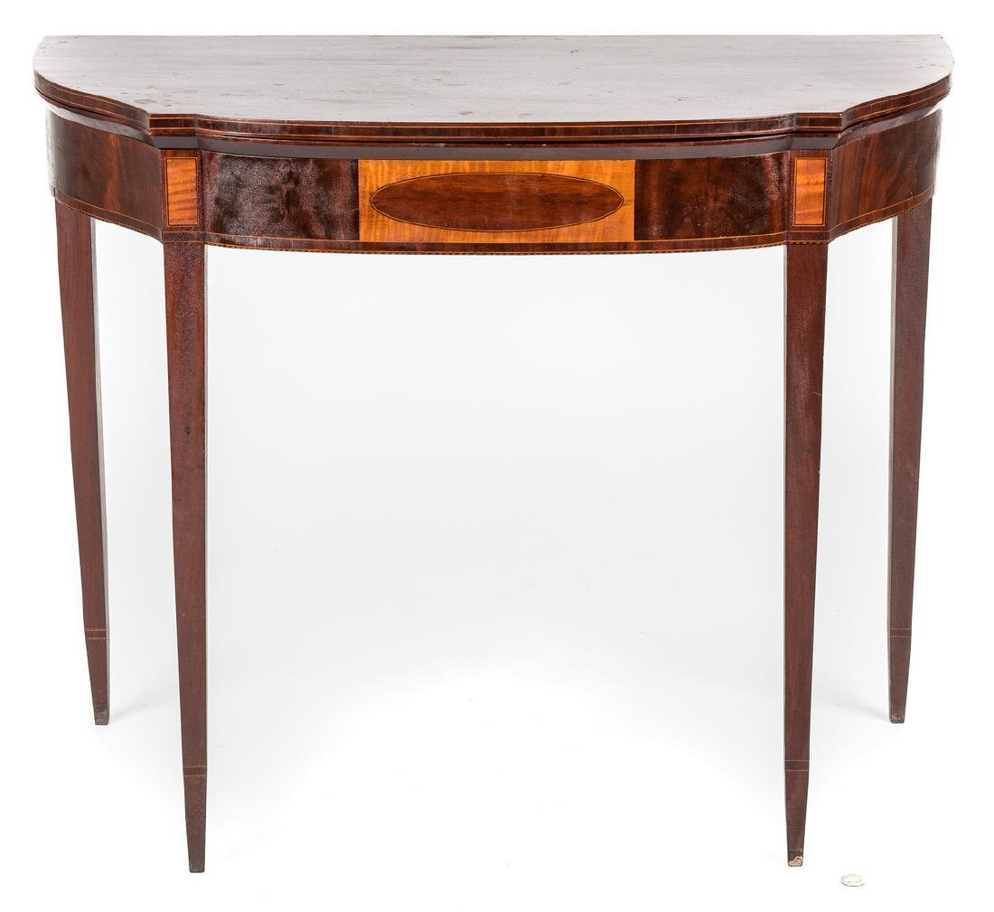 Federal Inlaid Game Table, Seymour School