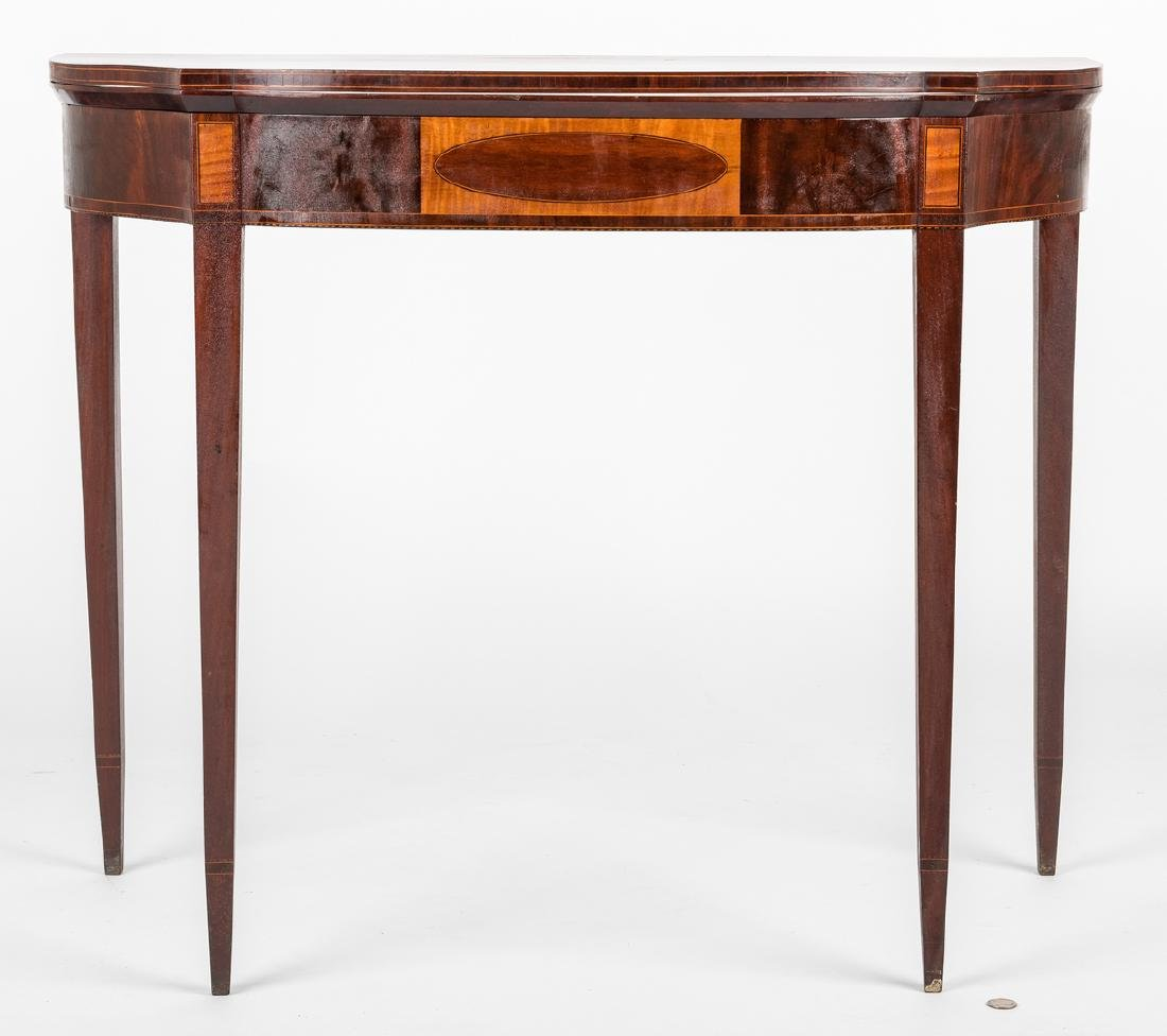 Federal Inlaid Game Table, Seymour School - 2