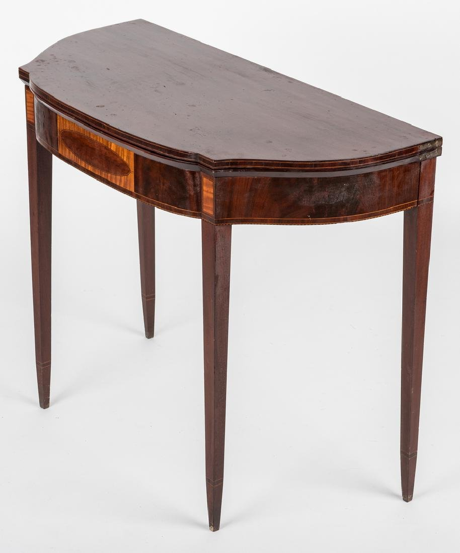 Federal Inlaid Game Table, Seymour School - 3