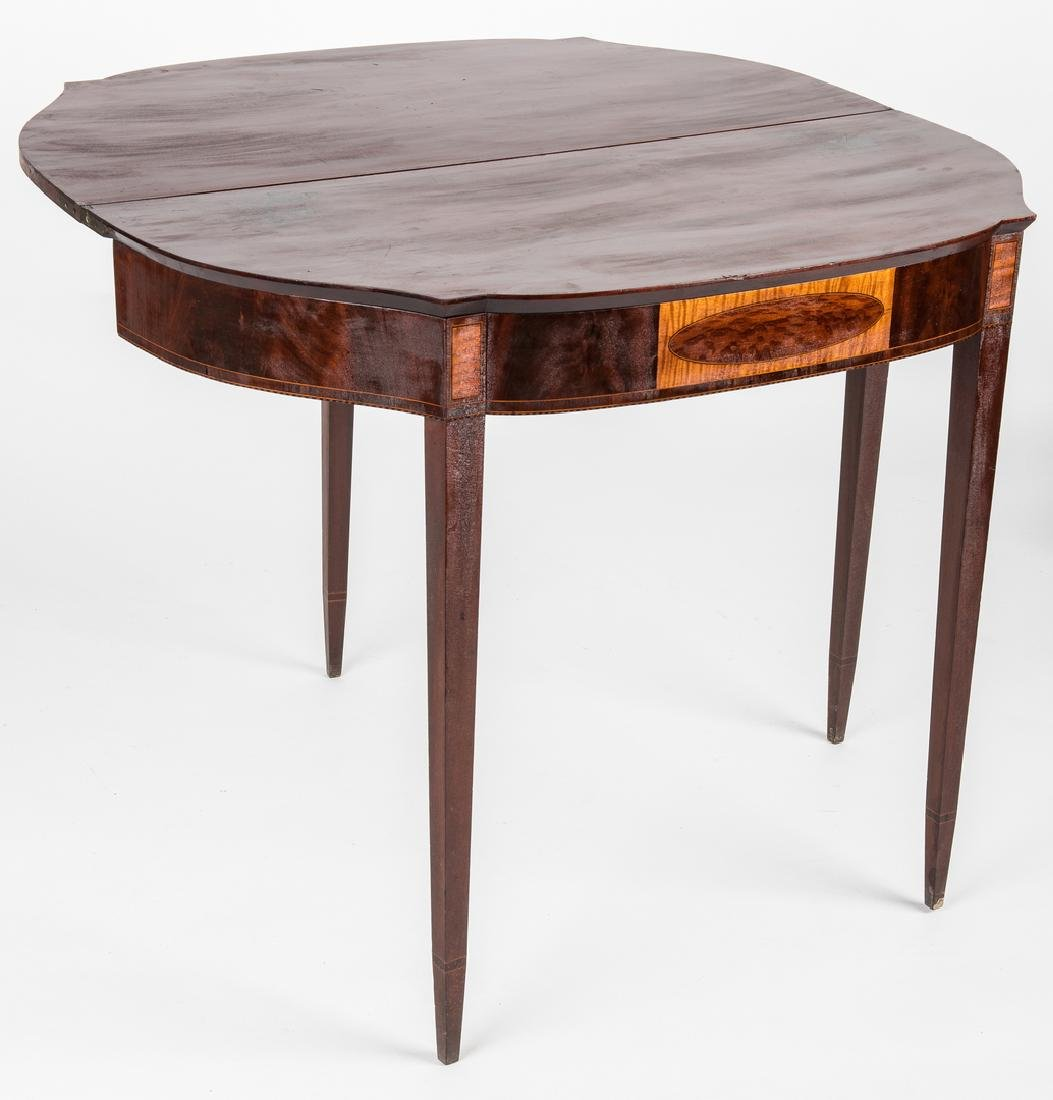 Federal Inlaid Game Table, Seymour School - 5